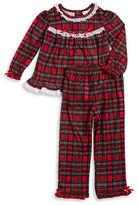 Little Me Plaid Flannel Pajama Set