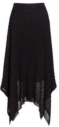 St. John Reverse Jersey Pleated Handkerchief Skirt