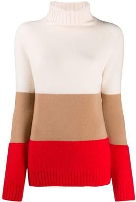 Semi-Couture Semicouture striped turtleneck sweater