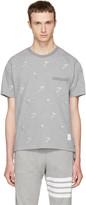 Thom Browne Grey Skier Piqué Crewneck T-shirt