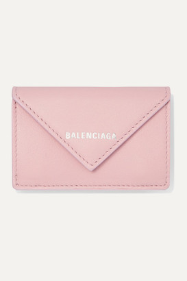 Balenciaga Papier Mini Textured-leather Wallet - Pink
