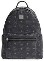 MCM Small Stark - Visetos Backpack - Black