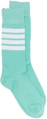 Thom Browne 4-Bar stripe ankle socks