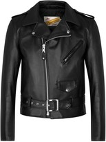 Schott Nyc One Star Black Leather Biker Jacket
