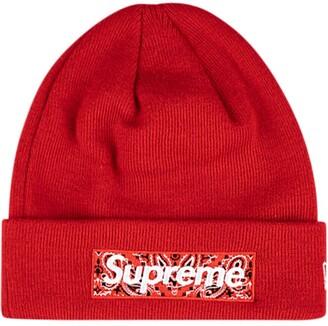Supreme x New Era logo beanie