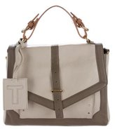 Tory Burch Leather-Trimmed Satchel s