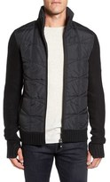 Bench Men's Head Quilt Panel Zip Sweater