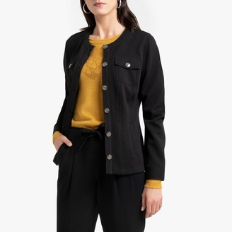 Anne Weyburn Textured Fitted Jacket with Pockets