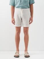 BEIGE Marane - Slubbed Linen-poplin Shorts - Mens