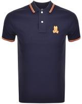 Psycho Bunny Neon Bunny Polo T Shirt Navy