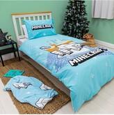 Thumbnail for your product : Minecraft Polar Bear Christmas Panel Single Duvet Cover Set