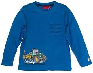 Salt&Pepper Salt and Pepper Boy's Longsleeve Farm Work Pocket T-Shirt, (Artic Blue Melange 447)