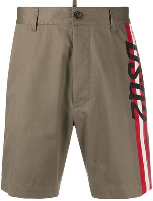 DSQUARED2 Stripe-Side Chino Shorts