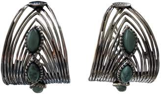 Gas Jeans Silver Metal Earrings