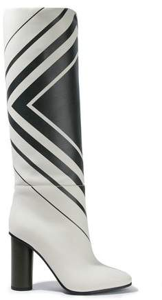 Anya Hindmarch Printed Leather Knee Boots