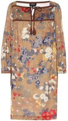 A.P.C. Solar floral cotton crApe dress