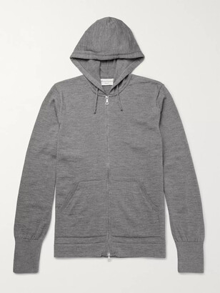 Officine Generale Merino Wool Zip-Up Hoodie - Men - Gray