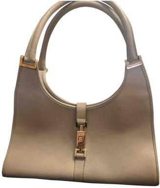 Gucci Jackie Vintage Grey Leather Handbags