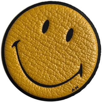 Anya Hindmarch Yellow Leather Bag charms