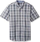 Nautica Men's Big-Tall Plaid Short Sleeve Shirt
