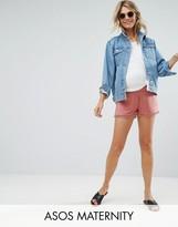 Asos Shorts With Pom Pom Hem