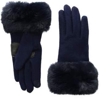 Echo Women's Faux Fur Cuff Wool Blend Glove
