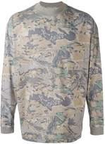 Yeezy leaf print sweater