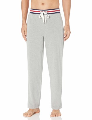 Izod Men's Poly Sueded Jersey Knit Pant with Striped Waistband