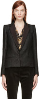 Haider Ackermann Black Tweed Blazer