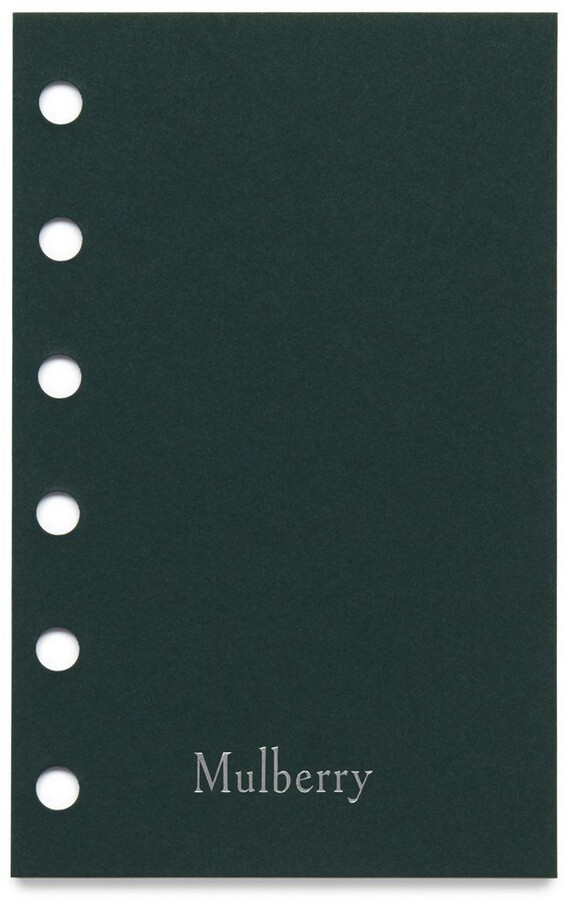 Mulberry Pocket Book Contacts Dividers White Paper