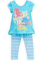 Children's Apparel Network Shimmer & Shine Blue Hi-Low Tee & Leggings - Toddler
