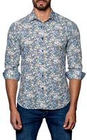 Jared Lang Curved Hem Printed Sportshirt