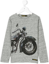 Finger In The Nose motorcycle print top
