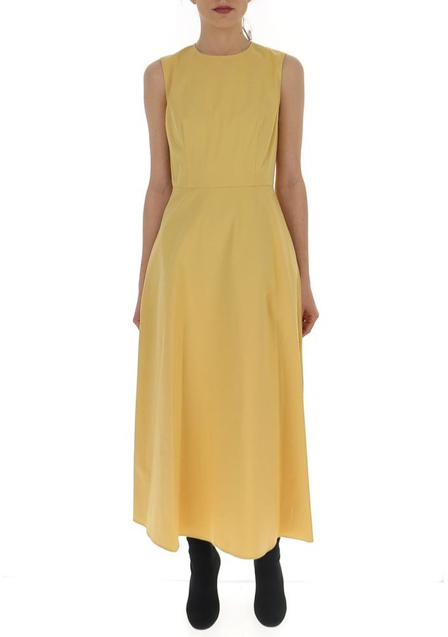Theory Flared Midi Dress