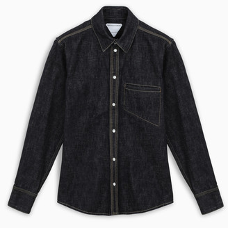 Bottega Veneta Dark blue denim shirt
