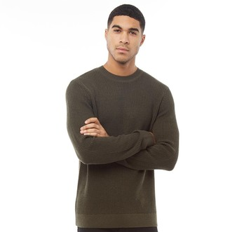 Jack and Jones Mens New Andreas Crew Neck Jumper Forest Night
