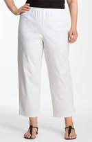 Eileen Fisher Plus Size Women's Stretch Organic Cotton Ankle Pants