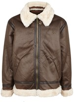 Alpha Industries B-3 Sherpa Brown Faux Shearling Jacket