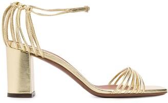 L'Autre Chose Metallic Strappy Sandals