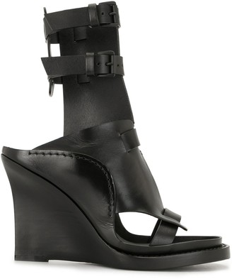 Ann Demeulemeester Ankle Straps High-Wedge Sandals