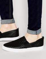 Asos Slip On Sneakers in Quilted Black