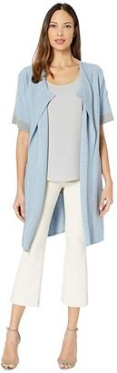 Lysse Yule Washable Cotton Cashmere Sweater (Powder Blue) Women's Clothing