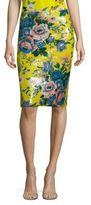 Diane von Furstenberg Sequined Floral-Print Pencil Skirt