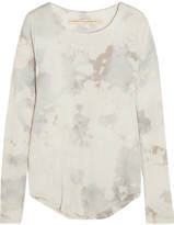 Raquel Allegra Tie-dyed Cotton-blend Jersey Top - Ivory