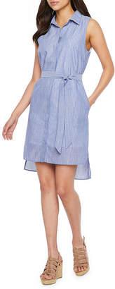 Nicole Miller Sleeveless Shirt Dress