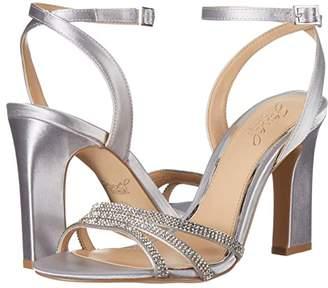 Badgley Mischka Sparkle (Silver Satin) Women's Dress Sandals