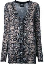 Markus Lupfer snakeskin print cardigan - women - Cotton/Wool - XS