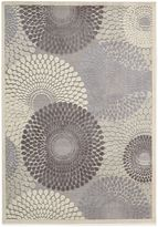 Nourison Graphic Illusions Area Rug in Grey