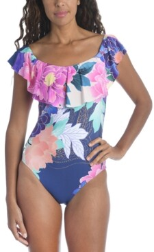 Trina Turk Opulent Oasis Printed One-Piece Swimsuit Women's Swimsuit