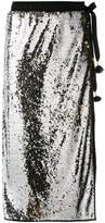 Nude 'nude' embellished midi skirt